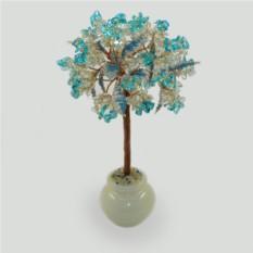 Дерево из топаза и горного хрусталя Верность