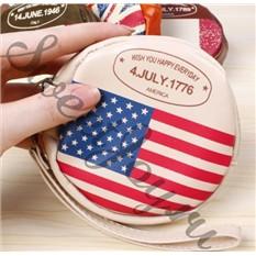 Кошелек для мелочи Round Flag - America