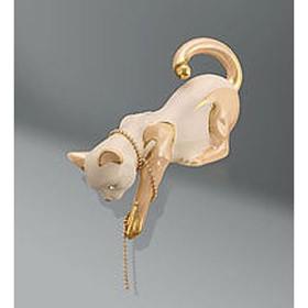 Фигура Кошка с кристаллами сваровски
