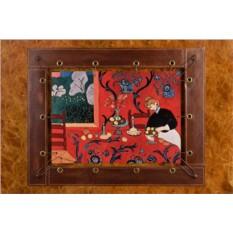 Картина из кожи Красная комната Анри Матисс