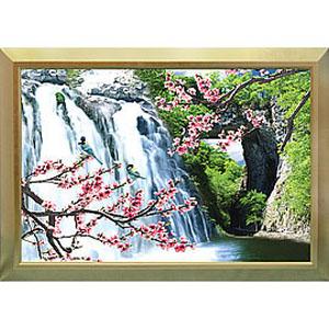 Объёмная 3D картина «Сакура у водопада»