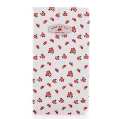 Нелинованный блокнот Simple style red flowers