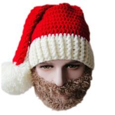 Новогодняя шапка с бородой