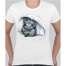 Женская футболка Мишка Тедди под зонтиком