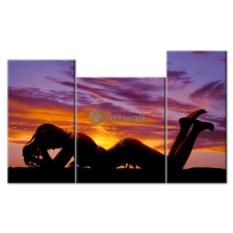 Модульная картина «Янтарный закат»