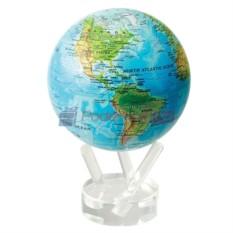 Глобус мобиле с общегеографической картой мира