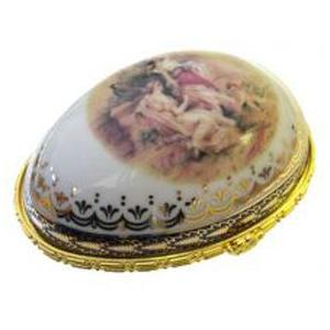 Шкатулка фарфоровая Яйцо 8*6*5 см