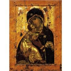 Копия иконы VI века на доске Богоматерь Владимирская