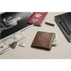 Рыжий кожаный бумажник Brialdi Bisceglie