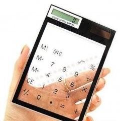 Калькулятор сенсорный прозрачный
