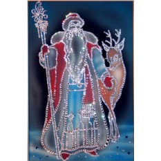 Картина с кристаллами Swarovski Морозко, размер 30 х 40 см