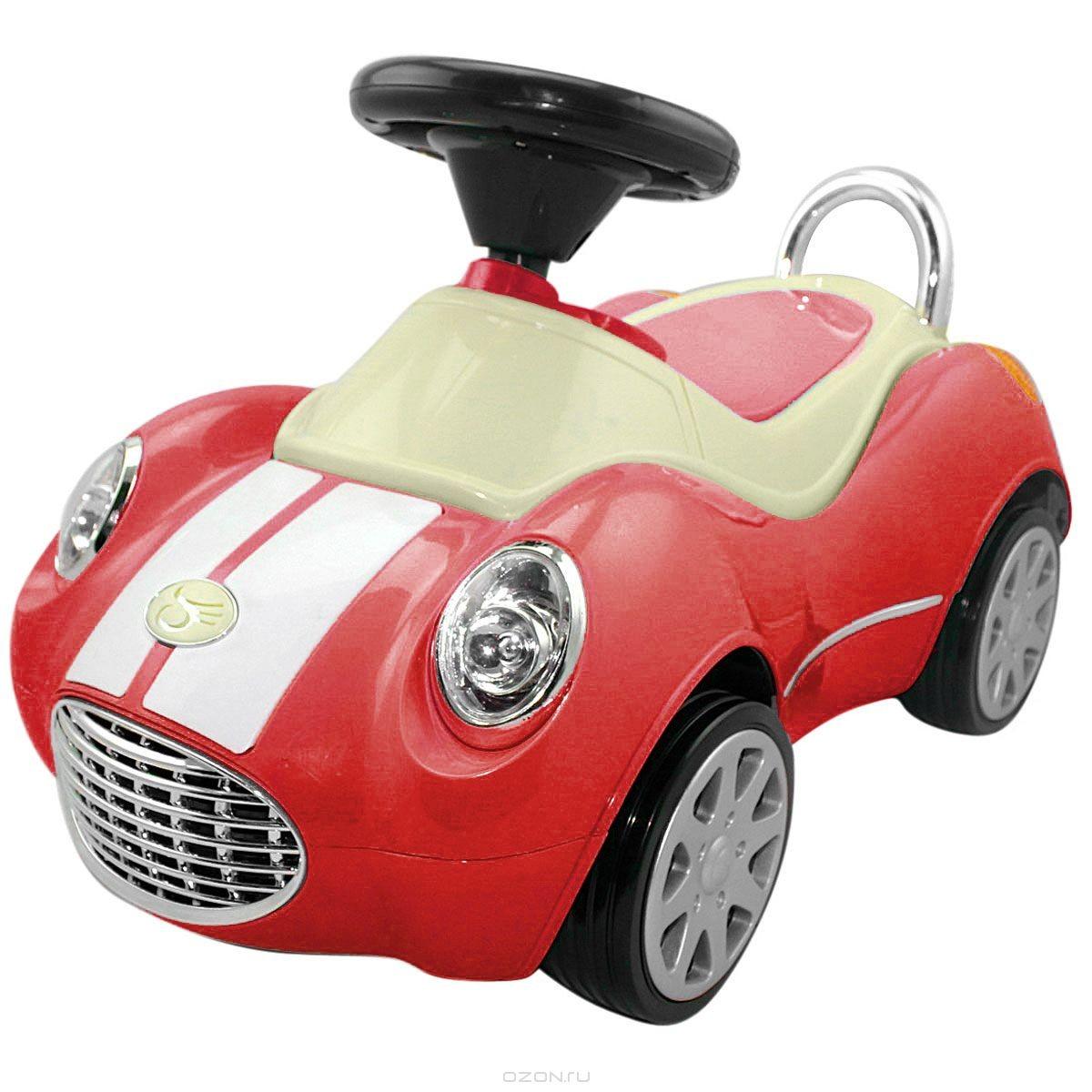 Машинка-каталка Happy Baby Кабриолет люкс, цвет: красный, бежевый