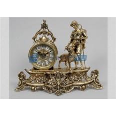 Часы из бронзы Пастух