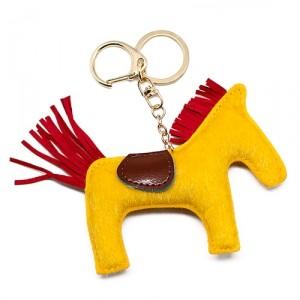 Брелок Лошадка (желтая с красным)