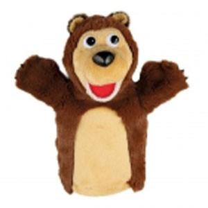 Игрушка на руку МИШКА из мультика Маша и медведь, 27 см.