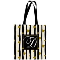 Именная сумка с вашей монограммой «Сердца»