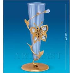 Позолоченная ваза с бабочкой Swarovski
