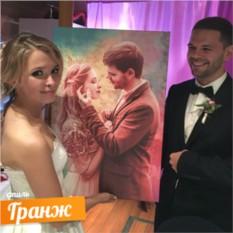 Портрет по фото в стиле Гранж в подарок на свадьбу