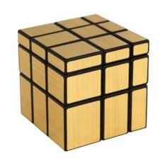 Зеркальный золотой кубик