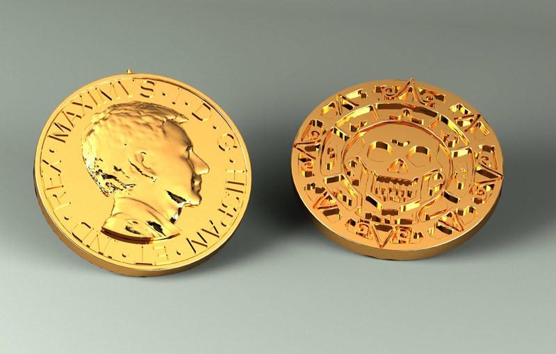 Монета 3DYA (золото)