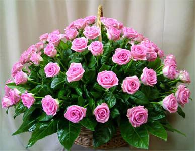 Корзина из цветов «Розитта»