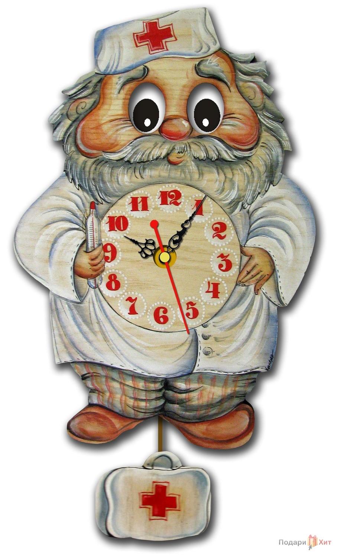 Часы настенные с маятником Айболит