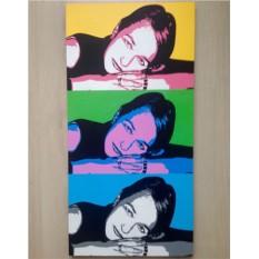Комбинированный поп-арт портрет по фото 40х80 см (3 в 1)