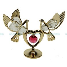 Фигурка Swarovski декоративная Голуби с сердцем