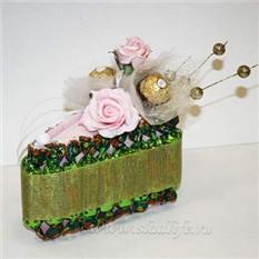 Букет из конфет на 8 марта Кусочек торта 2