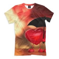 Футболка Сердечки под зонтом