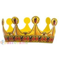 Золотая корона с красными ромбами