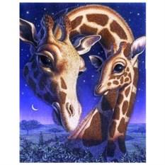 Картина-раскраска по номерам на холсте Жирафы