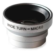 Объектив для iPhone и любого телефона Wide + Macro Silver