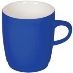 Синяя кружка Soft с прорезиненным покрытием