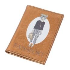 Обложка для паспорта Модные звери. Леопард