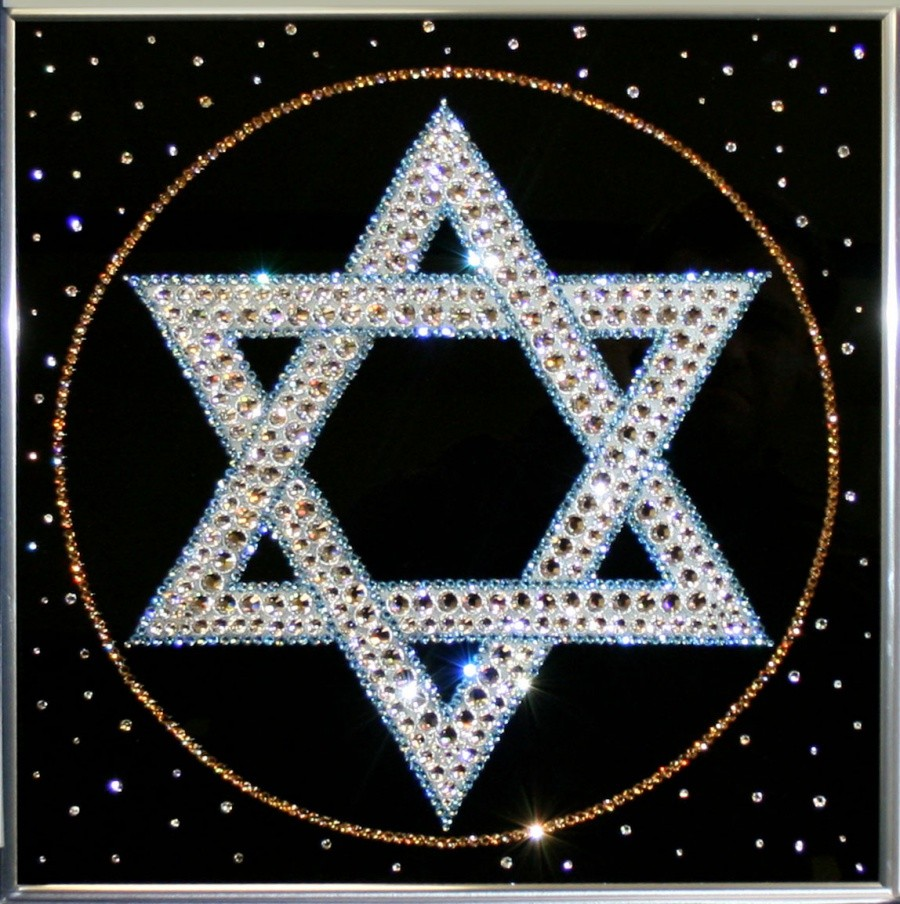 Картина с кристаллами Сваровски Звезда Давида