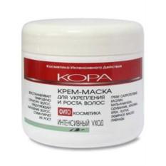 Крем-маска для укрепления и роста волос Кора