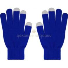 Синие мужские перчатки для работы с сенсорными экранами
