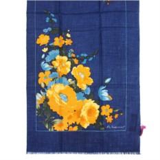 Синий женский палантин с цветками Mila Schon