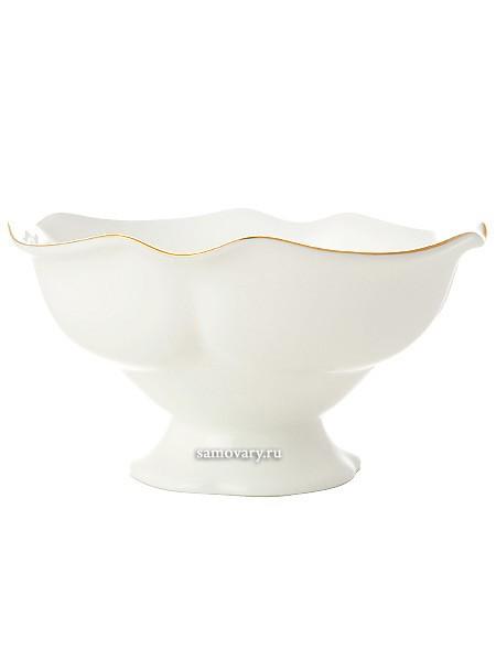 Фарфоровая ваза для варенья Золотая лента