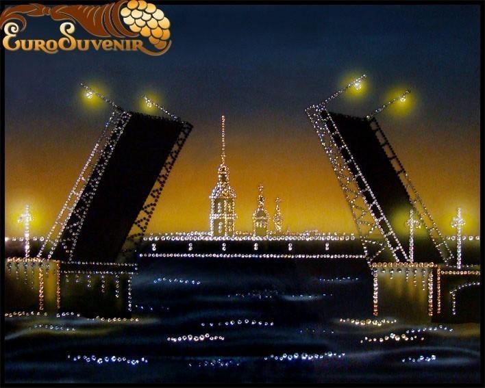 Картина Ночной Дворцовый мост