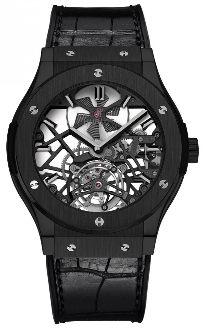 Наручные часы Hublot Big Bang 44mm Skeleton Tourbillon Black Ceramic