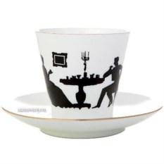 Кофейная чашка с блюдцем Гость (фарфор)