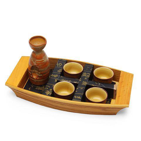 Набор для саке на подносе «Ручей»
