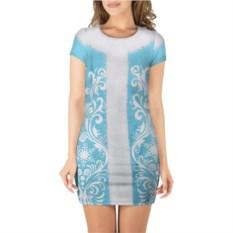 Женское платье 3D короткие рукава Снегурочка