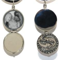 Серебряный открывающийся медальон Рыбы