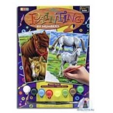 Картина по номерам с акриловыми красками «Лошади»