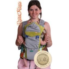 Серо-зелёный рюкзак-кенгуру BabyActive Lux