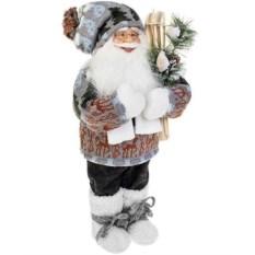 Новогодняя фигурка Дед Мороз с лыжами и елочкой