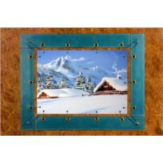 Картина из кожи Зимний пейзаж ElolE Interior